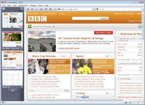 Скриншот браузера Opera 10