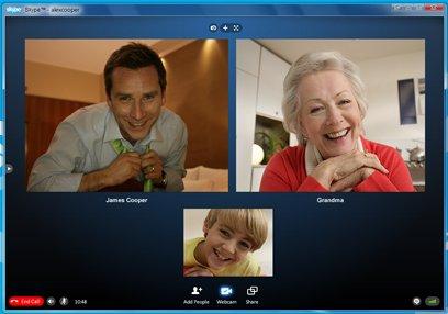 Skype 5. Груповые видеозвонки